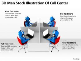 3D Man Stock Illustration Of Call Center Ppt Graphics Icons