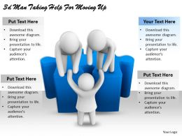 3d_man_taking_help_for_moving_up_ppt_graphics_icons_powerpoint_Slide01