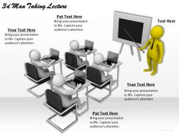 3d Man Taking Lecture Ppt Graphics Icons Powerpoint