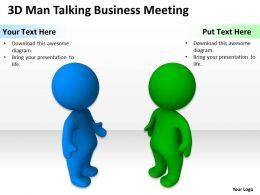 3D Man Talking Business Meeting Ppt Graphics Icons