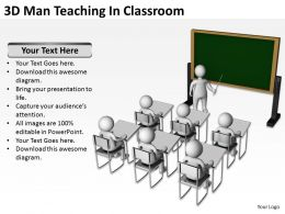 3d Man Teaching In Classroom Ppt Graphics Icons Powerpoint