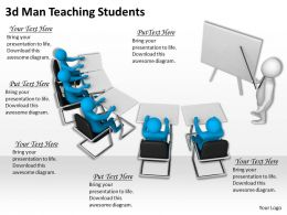 3d Man Teaching Students Ppt Graphics Icons Powerpoint