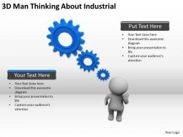 3D Man Thinking About Industrial Ppt Graphics Icons Powerpoint