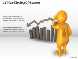 3d Man Thinking Of Business Ppt Graphics Icons Powerpoint