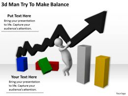 3d Man Try To Make Balance Ppt Graphics Icons Powerpoint