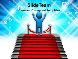 3d Man Winner Concept Competition Powerpoint Templates PPT Themes And Graphics 0113