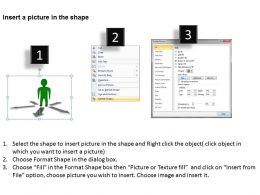 3d_man_with_5_arrows_signifying_5_different_ways_path_ppt_graphics_icons_Slide03