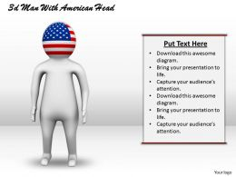 3d Man With American Head Ppt Graphics Icons Powerpoint