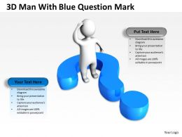3D Man With Blue Question Mark Ppt Graphics Icons