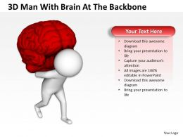 3D Man With Brain At The Backbone Ppt Graphics Icons Powerpoint