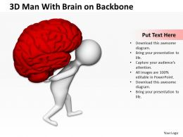 3D Man With Brain On Backbone Ppt Graphics Icons Powerpoint