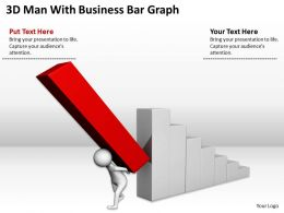 3D Man With Business Bar Graph Ppt Graphics Icons Powerpoint