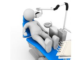 3d Man With Dental Treatment Stock Photo