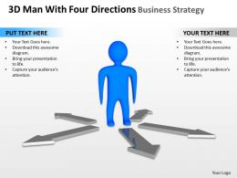 3D Man With Four Directions Business Strategy Ppt Graphics Icons