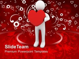 3D Man With Heart Wedding PowerPoint Templates PPT Themes And Graphics 0213