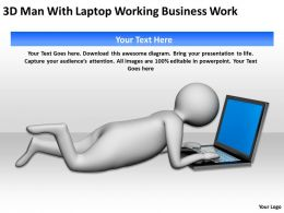 3D Man With Laptop Working Business Work Ppt Graphics Icons Powerpoint
