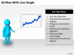 3d Man With Line Graph Ppt Graphics Icons Powerpoint