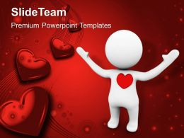 3D Man With Love Symbol PowerPoint Templates PPT Themes And Graphics 0213