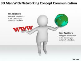 3D Man With Networking Concept Communication Ppt Graphic Icon