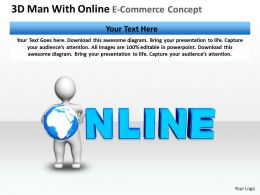 3D Man With Online E-Commerce Concept Ppt Graphics Icons