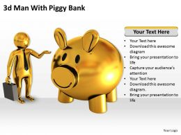 3d Man With Piggy Bank Ppt Graphics Icons Powerpoint