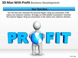 3D Man With Profit Business Development Ppt Graphics Icons