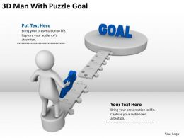 3D Man With Puzzle Goal Ppt Graphics Icons Powerpoint