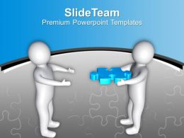 3d Man With Puzzle Piece Solution Concept PowerPoint Templates PPT Themes And Graphics 0213
