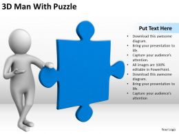 3D Man With Puzzle Ppt Graphics Icons Powerpoint