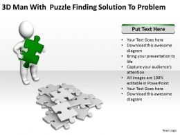 3d_man_with_puzzles_finding_solution_to_problem_ppt_graphic_icon_Slide01