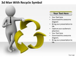 3d Man With Recycle Symbol Ppt Graphics Icons Powerpoint