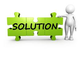 3D Man With Solution Puzzle Stock Photo