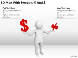 3D Man With Symbols Ppt Graphics Icons Powerpoint