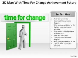 3D Man With Time For Change Achievement Future Ppt Graphic Icon