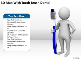 3D Man With Tooth Brush Dental Ppt Graphics Icons Powerpoint