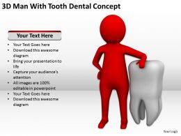 3D Man With Tooth Dental Concept Ppt Graphics Icons Powerpoint