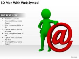 3D Man With Web Symbol Ppt Graphics Icons Powerpoint