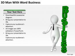 3D Man With Word Business Ppt Graphics Icons Powerpoint