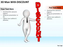 3D Man With Word Discount Ppt Graphics Icons Powerpoint
