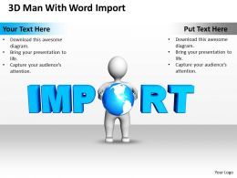 3D Man With Word Import Globalization Ppt Graphics Icons