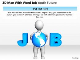 3D Man With Word Job Youth Future Ppt Graphics Icons