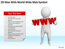 3D Man With World Wide Web Symbol Ppt Graphics Icons Powerpoint