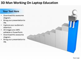 3D Man Working On Laptop Education Ppt Graphics Icons Powerpoint
