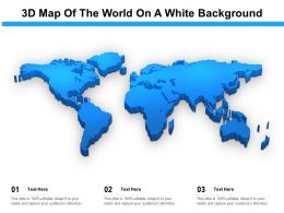 3D Map Of The World On A White Background