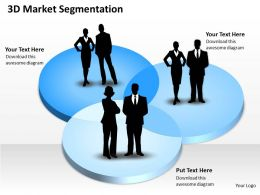 3D Market Segmentation Powerpoint Template Slide