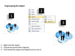 3D Market Segmentation Powerpoint Template Slide
