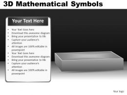 3D Mathematical Symbols Powerpoint Presentation Slides DB