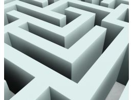 3d Maze White Background Stock Photo