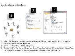 3D Men Around Human Brain Ppt Graphics Icons
