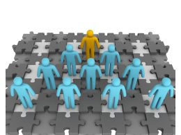 3d_men_as_a_team_with_one_leader_on_puzzle_base_displaying_teamwork_stock_photo_Slide01